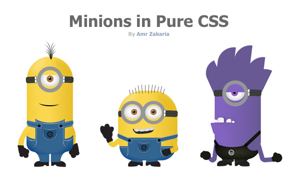 Minions in pure CSS