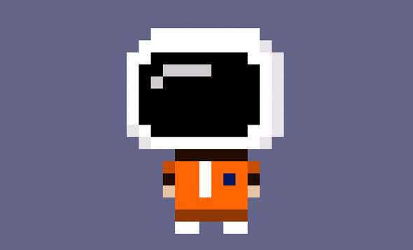 Tiny Tower Astronaut CSS Character