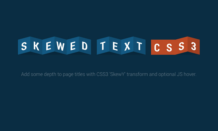 10 Neat CSS & JS Experiments via CodePen