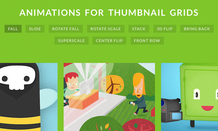 Animations for Thumbnail Grids by Mary Lou