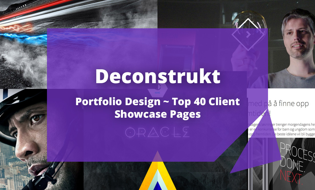 Deconstrukt #1: Portfolio Design ~ Top 40 Client Showcase Pages
