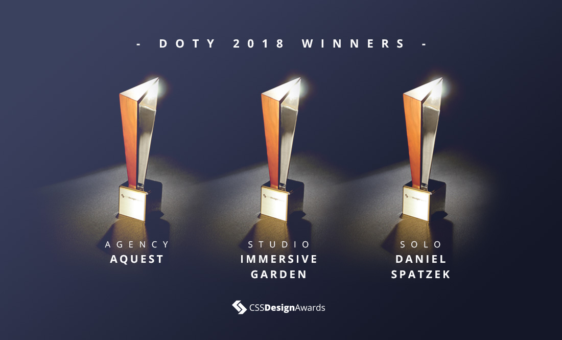 The Winners of Designer of the Year 2018!