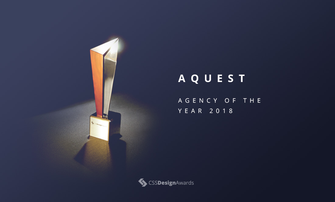 CSS Design Awards - Agency of the Year 2018 - AQuest