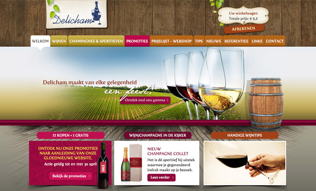Delicham - Wines & Champagnes website