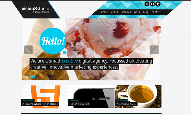 Vision8Studio website
