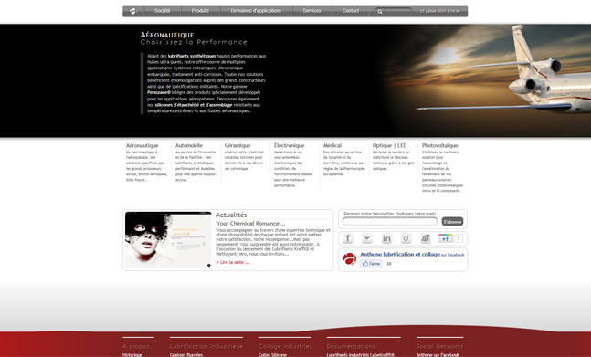 Anthone | Industrial Lubricants Cie website