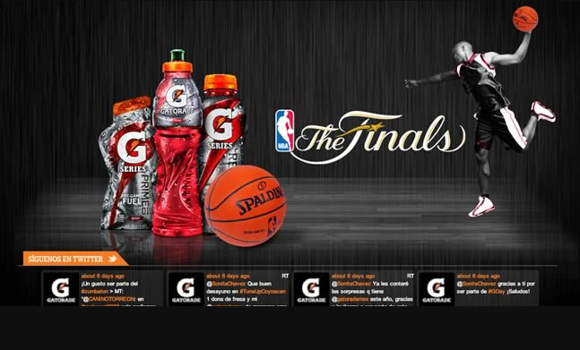 Gatorade NBA designed by zetabe interactive agency