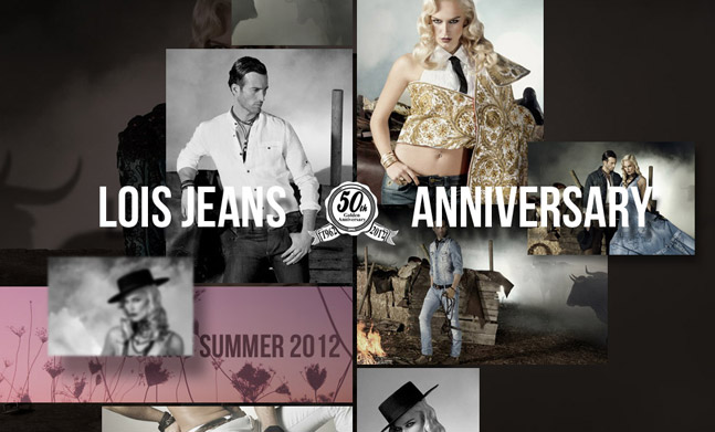 Lois Jeans 50th Anniversary website