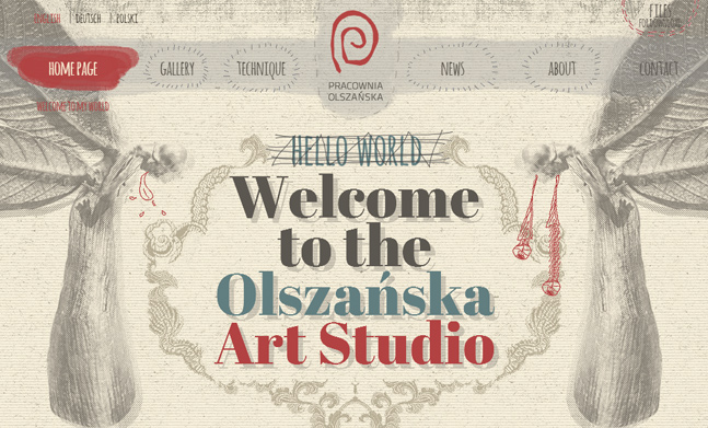 Olszańska Art Studio website