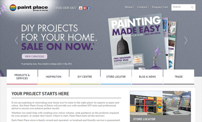 Paint Place website