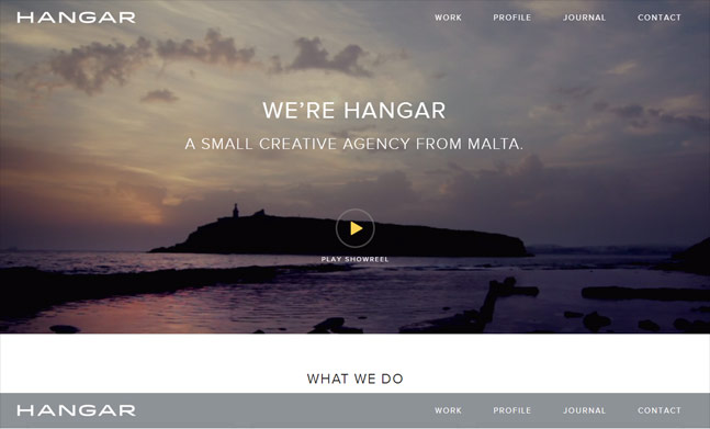 Small Creative Agency website