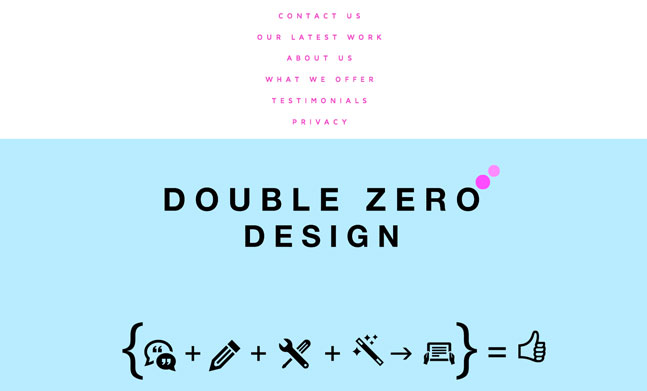 Double Zero Design website