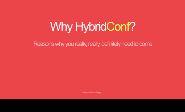 Why HybridConf?