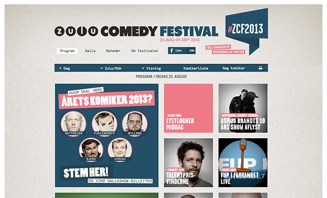 Zulu Comedy Festival designed by Tv 2 Zulu
