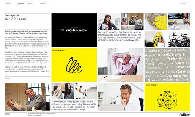 Saffron Brand Consultants designed by Designers' Friend Ltd