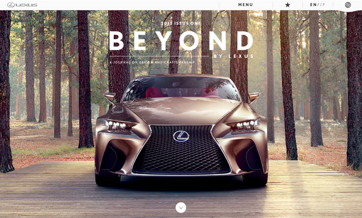 BEYOND BY LEXUS website