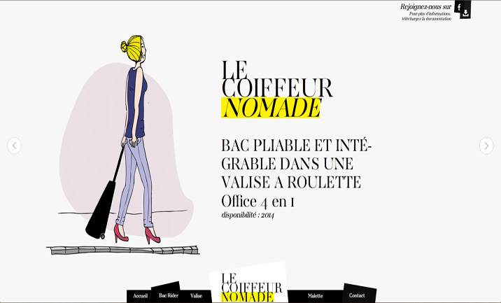 Le coiffeur nomade website