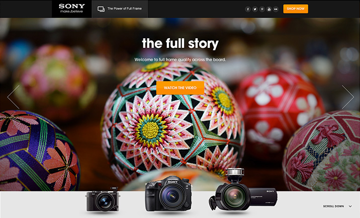 Sony Full Frame website