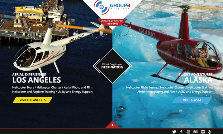 Group3 Aviation  website