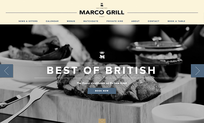 Marco Grill website