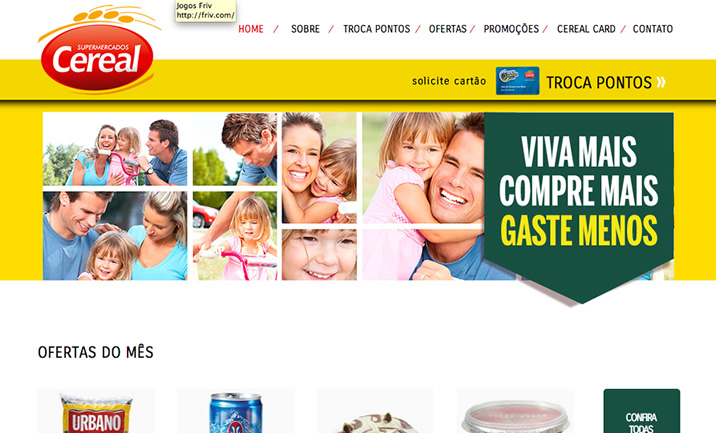 Supermarkets Cereal website