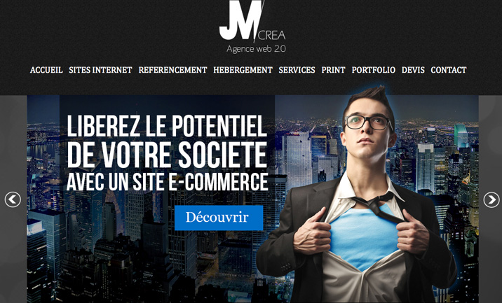 JM Créa website