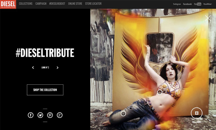 #DIESELTRIBUTE website