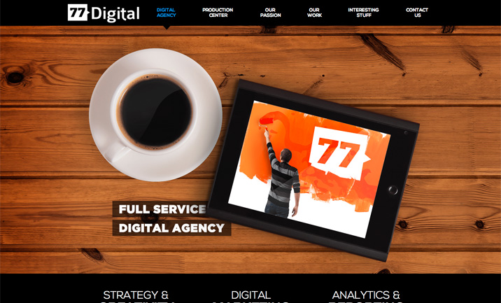 77 Digital website