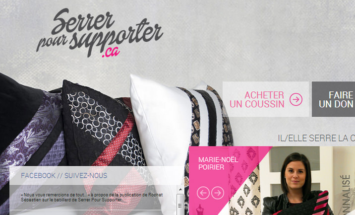 Serrer pour supporter