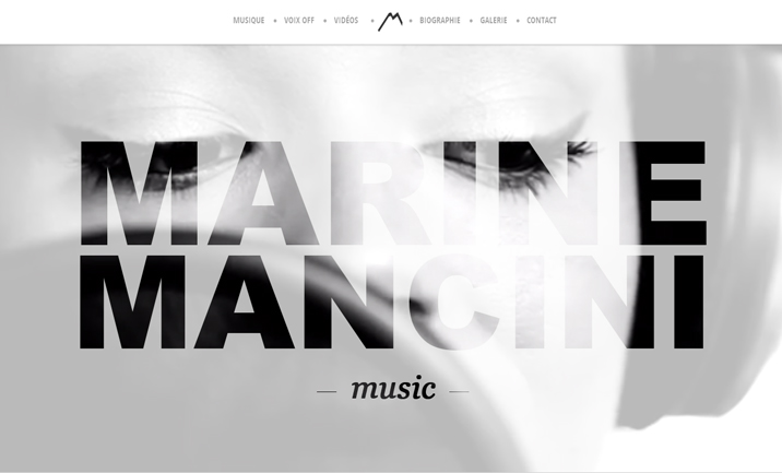 Marine Mancini website
