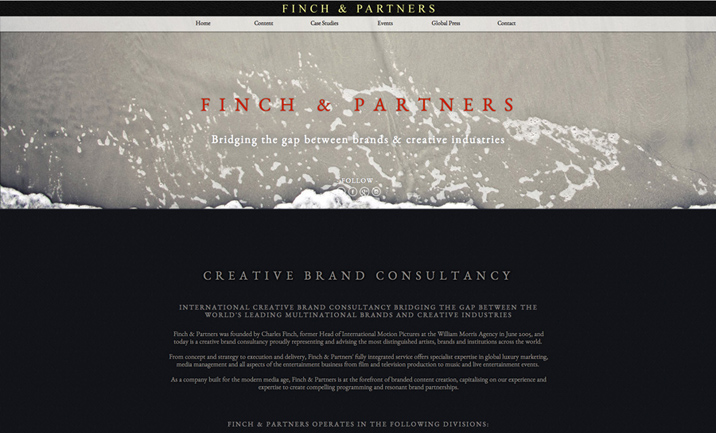 Finch & Partners website