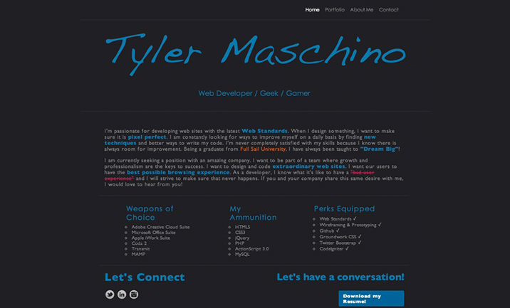 tylermaschino.com website