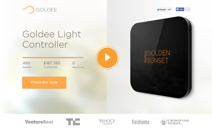 Goldee Controller website