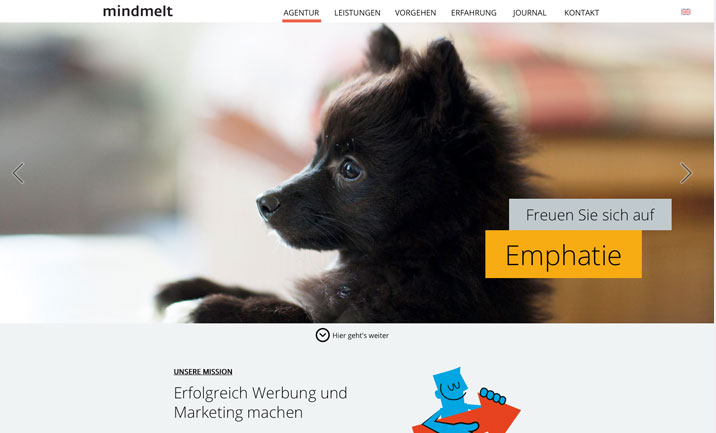Werbeagentur mindmelt website