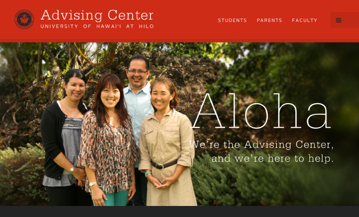 UH Hilo Advising Center website