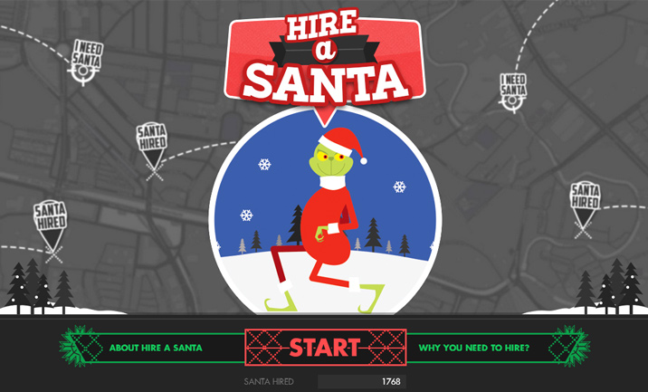 Hire a Santa website
