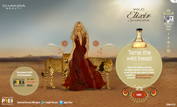 Wild Elixir by Shakira website