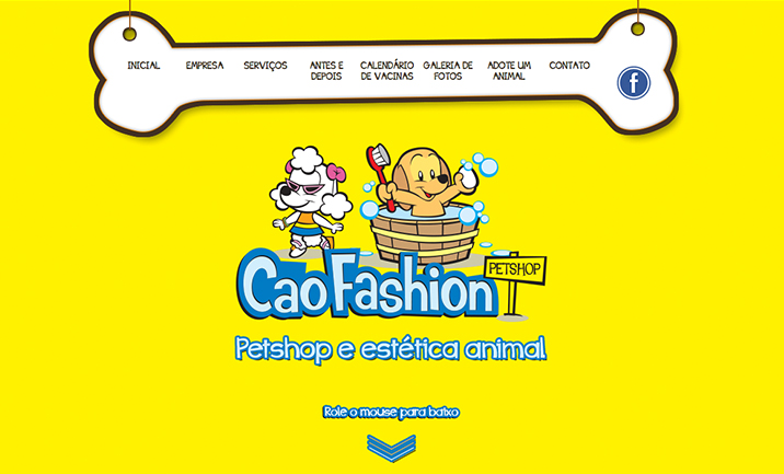 Petshop Cão Fashion website