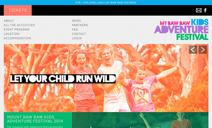 Kids Adventure Fest website