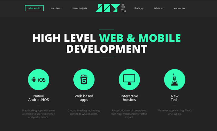 Joy Interactive website