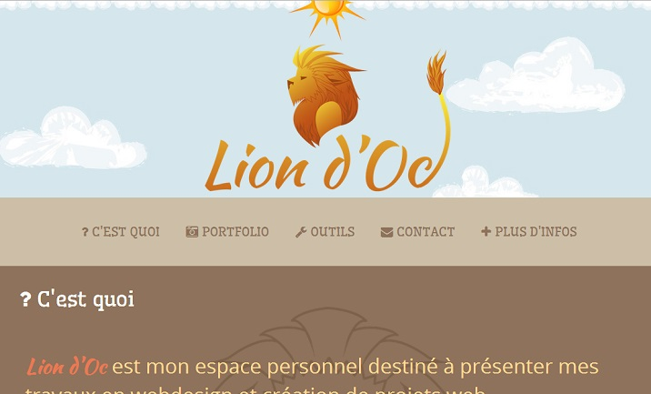 Lion d'Oc website