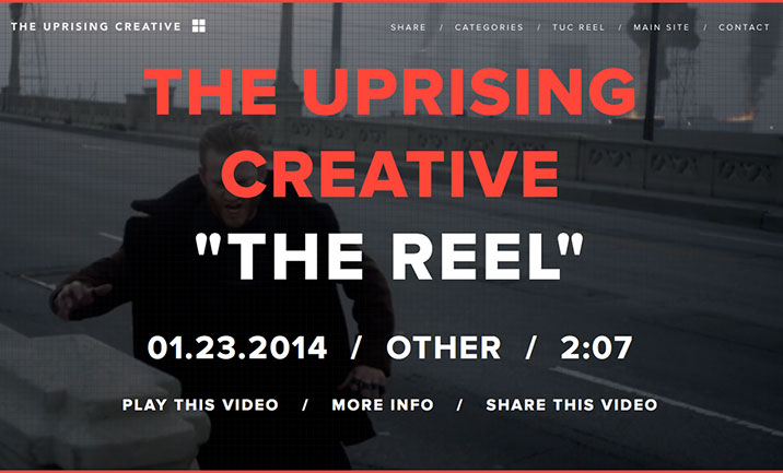 The Uprising Creative website