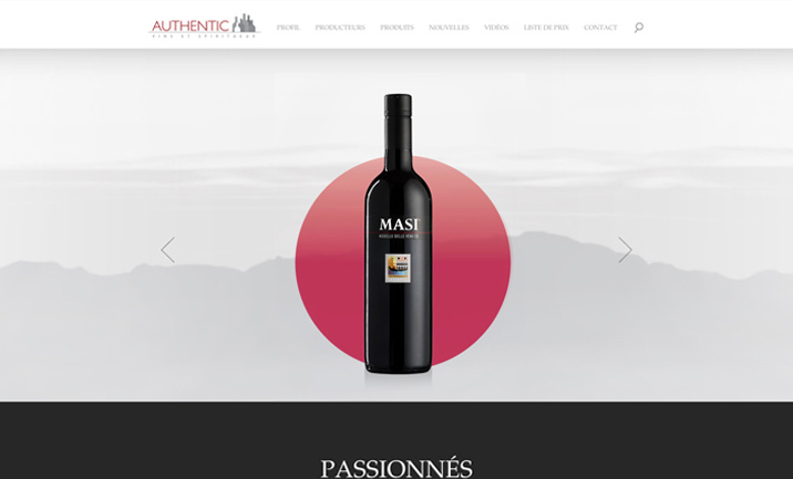 Authentic Wine website
