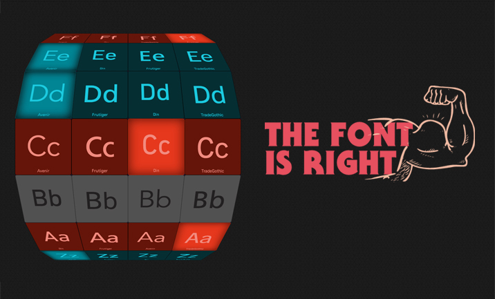 The Font is Right website