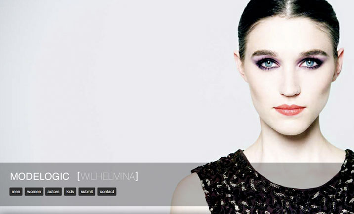 Modelogic Wilhelmina website