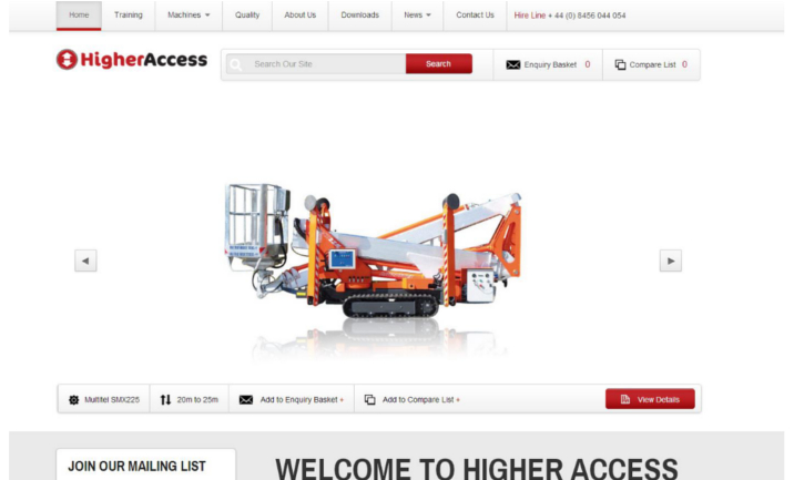 Higher Access website
