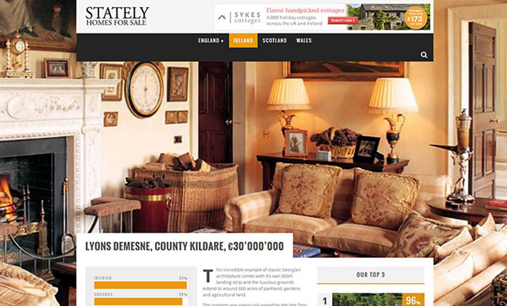 Stately Homes For Sale website