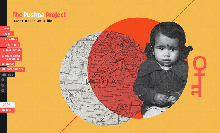 The Pushpa Project website