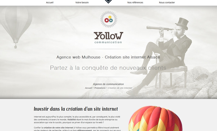 Yollow Communication website