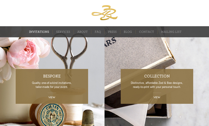 Zed & Bee website
